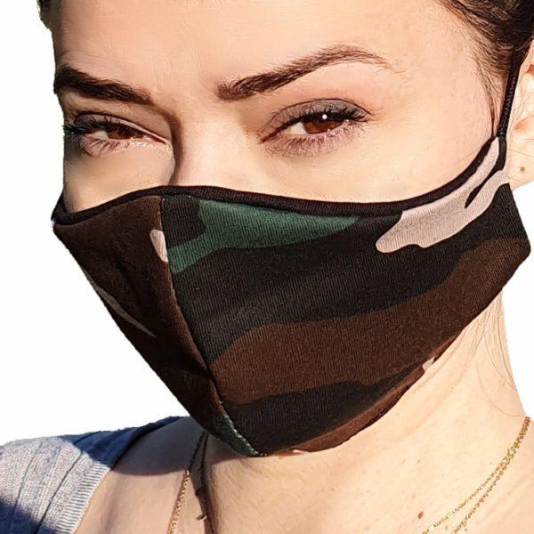 Ochronna maska bawełniana moro M-Production™ – damska