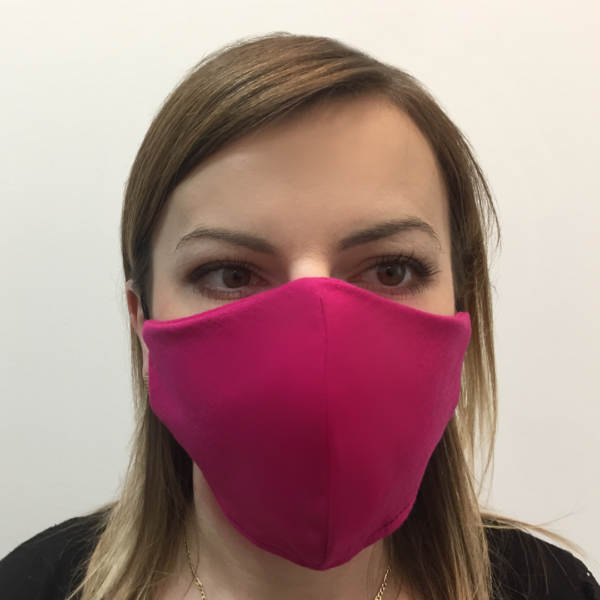 Bawełniana maska ochronna – damska Różowa