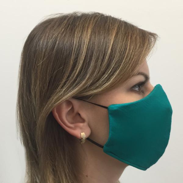 Bawełniana maska ochronna – damska zielony