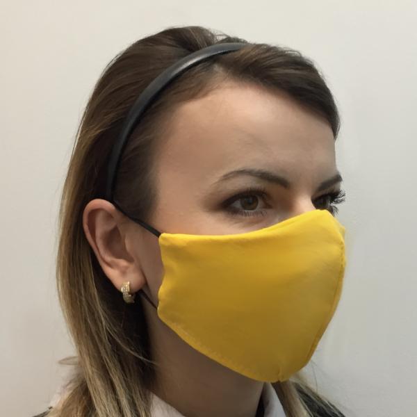 Bawełniana maska ochronna – damska żółty