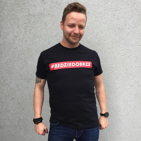 T-Shirt #Będziedobrze – JHK TSRA 150 BK