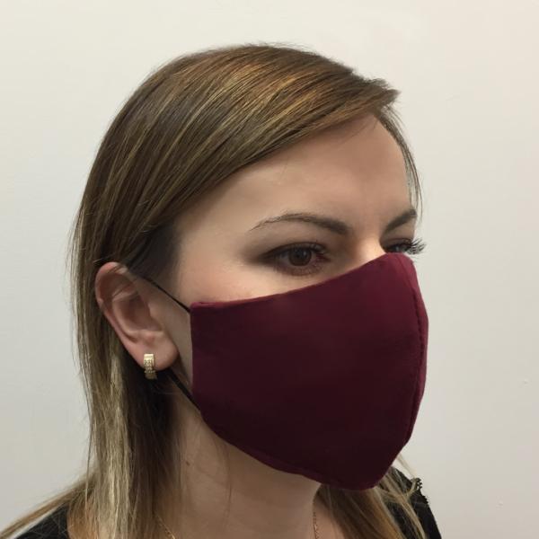 Bawełniana maska ochronna – damska bordo