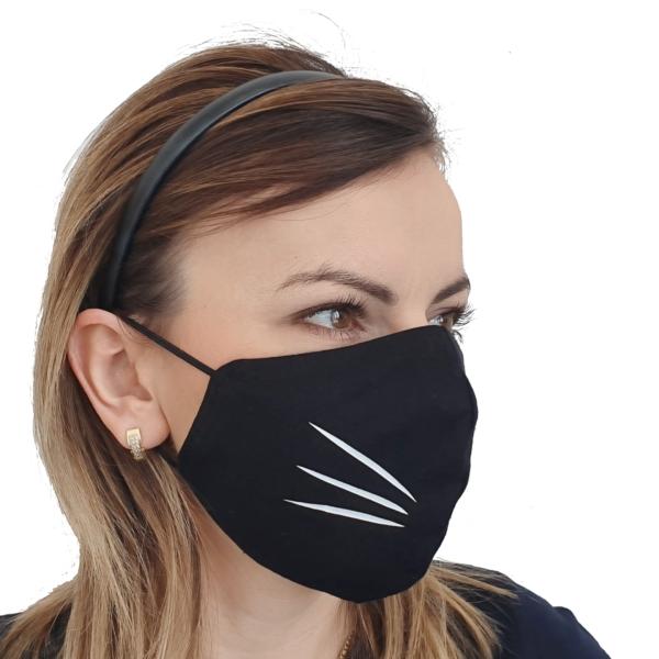 Maska bawełniana kot – damska