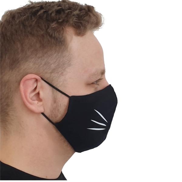 Maska bawełniana kot – męska