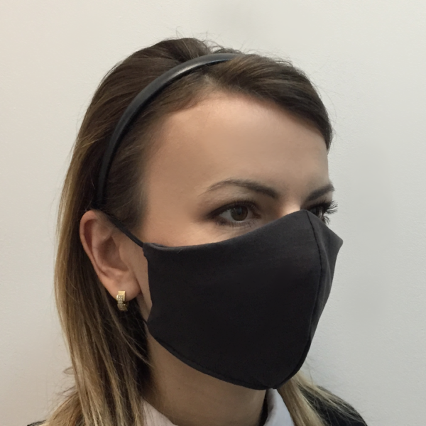 Bawełniana maska ochronna – damska szara